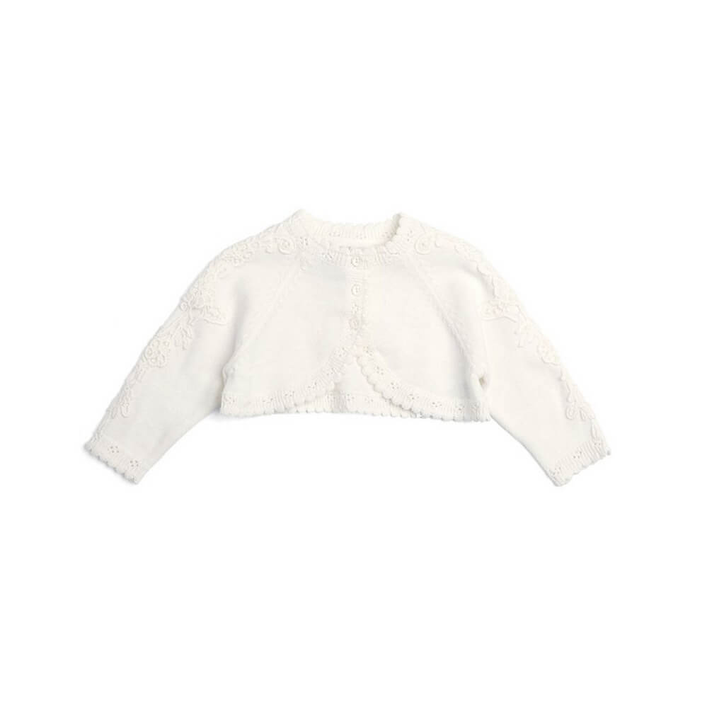 Mamas and Papas Lace Sleeve Cardi