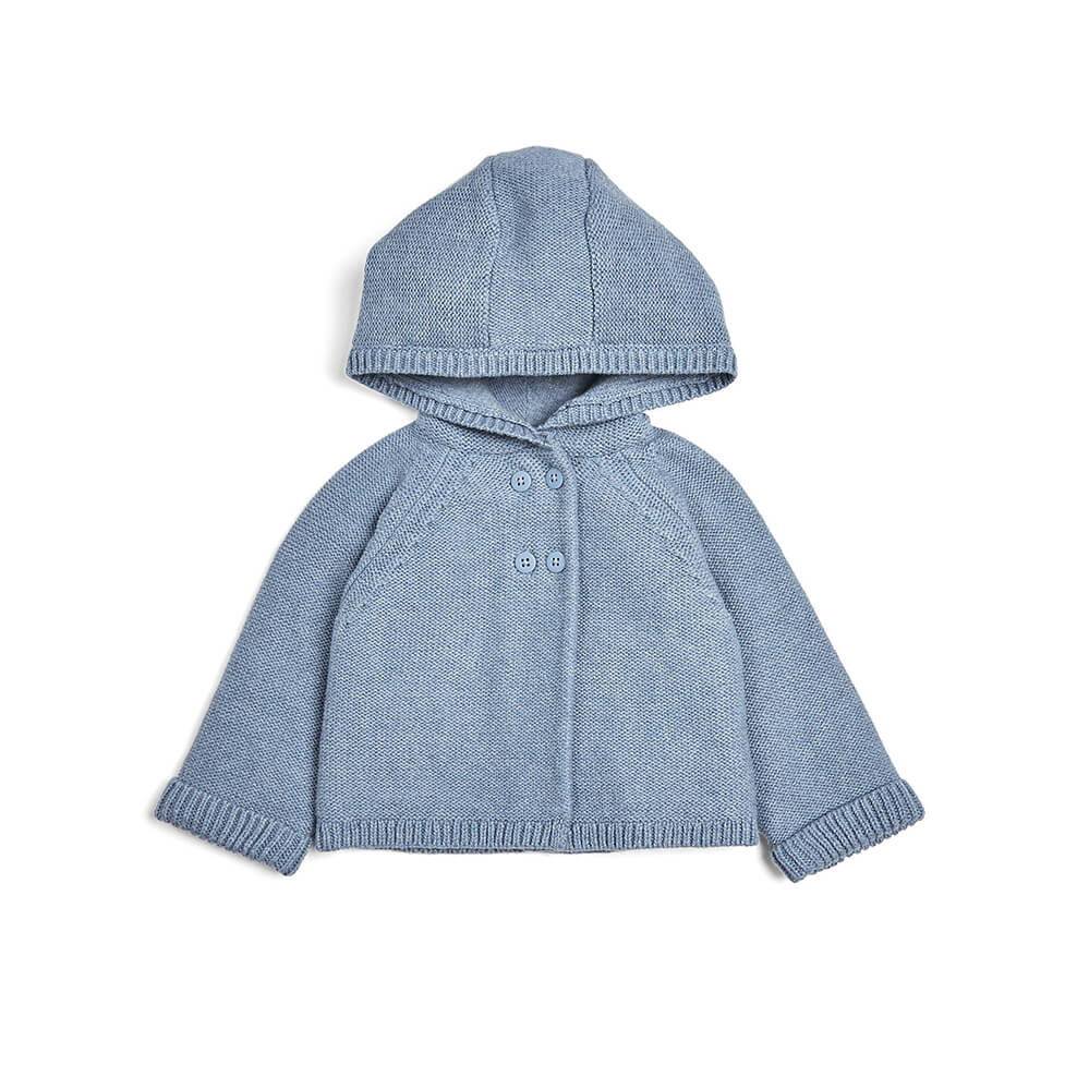 Mamas and Papas Blue Hooded Cardi
