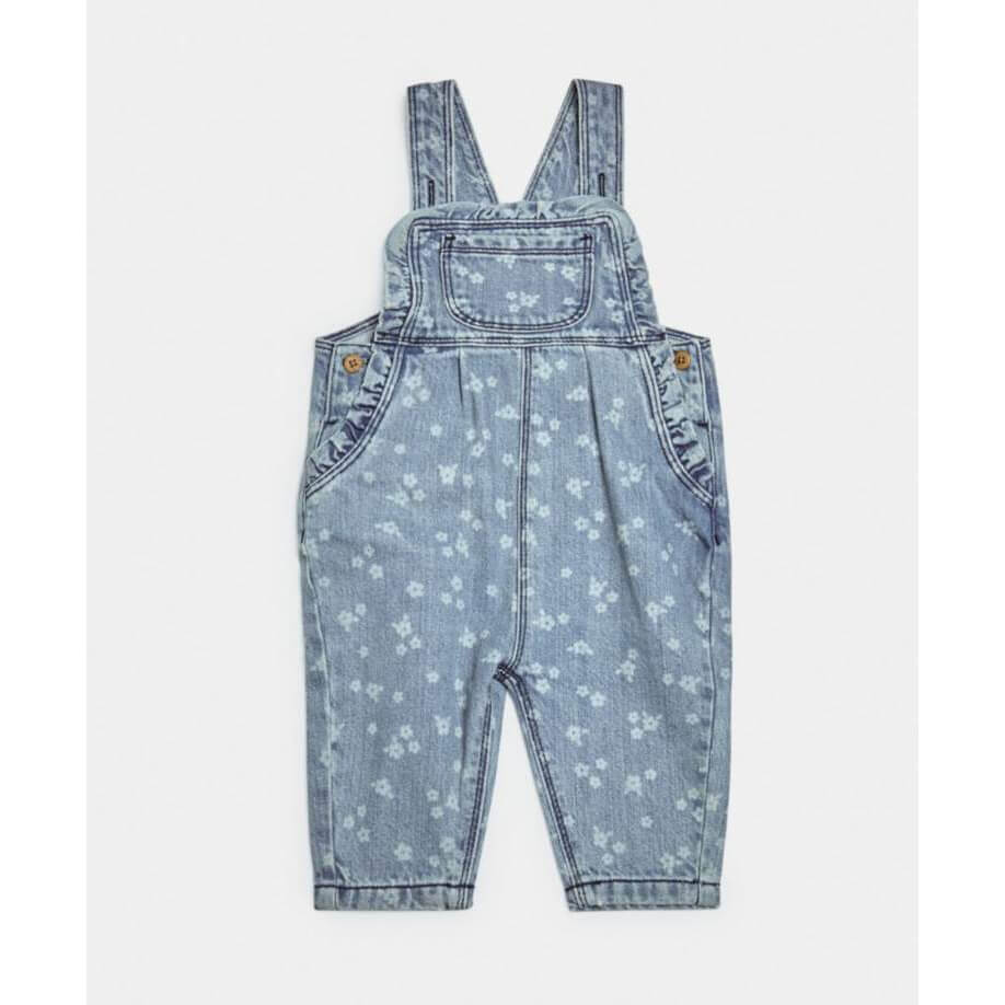 Mamas and Papas Denim Print Dungaree