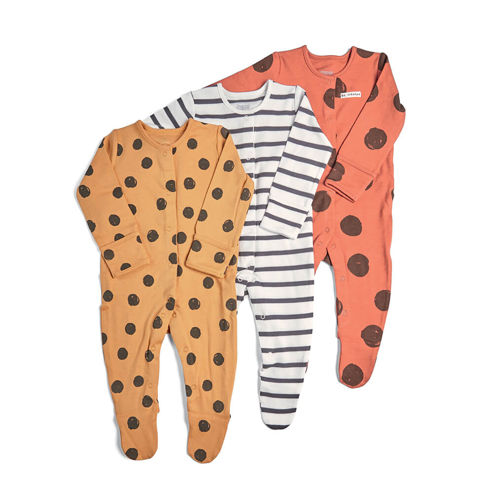 Mamas and Papas Large Spots All in Ones 3 Pack