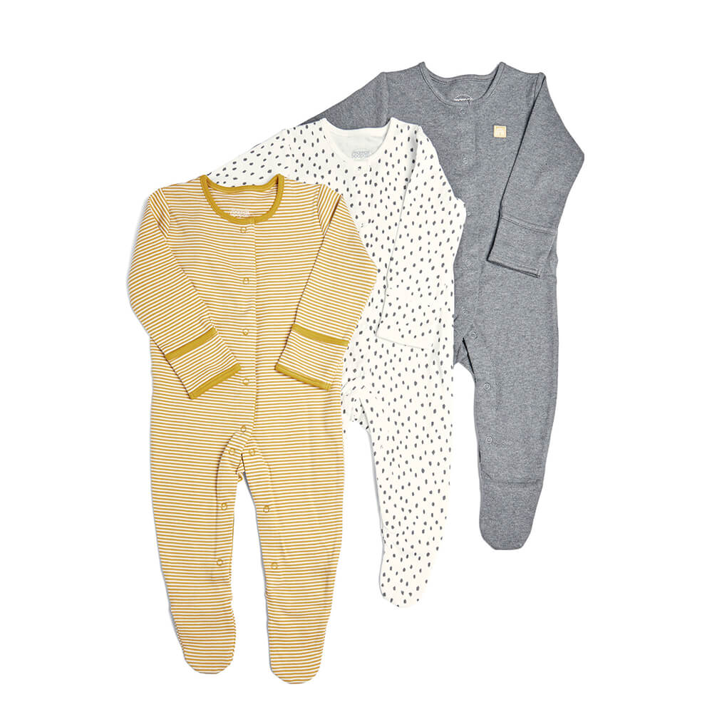 Mamas and Papas Stripe & Spots All in Ones 3 Pack