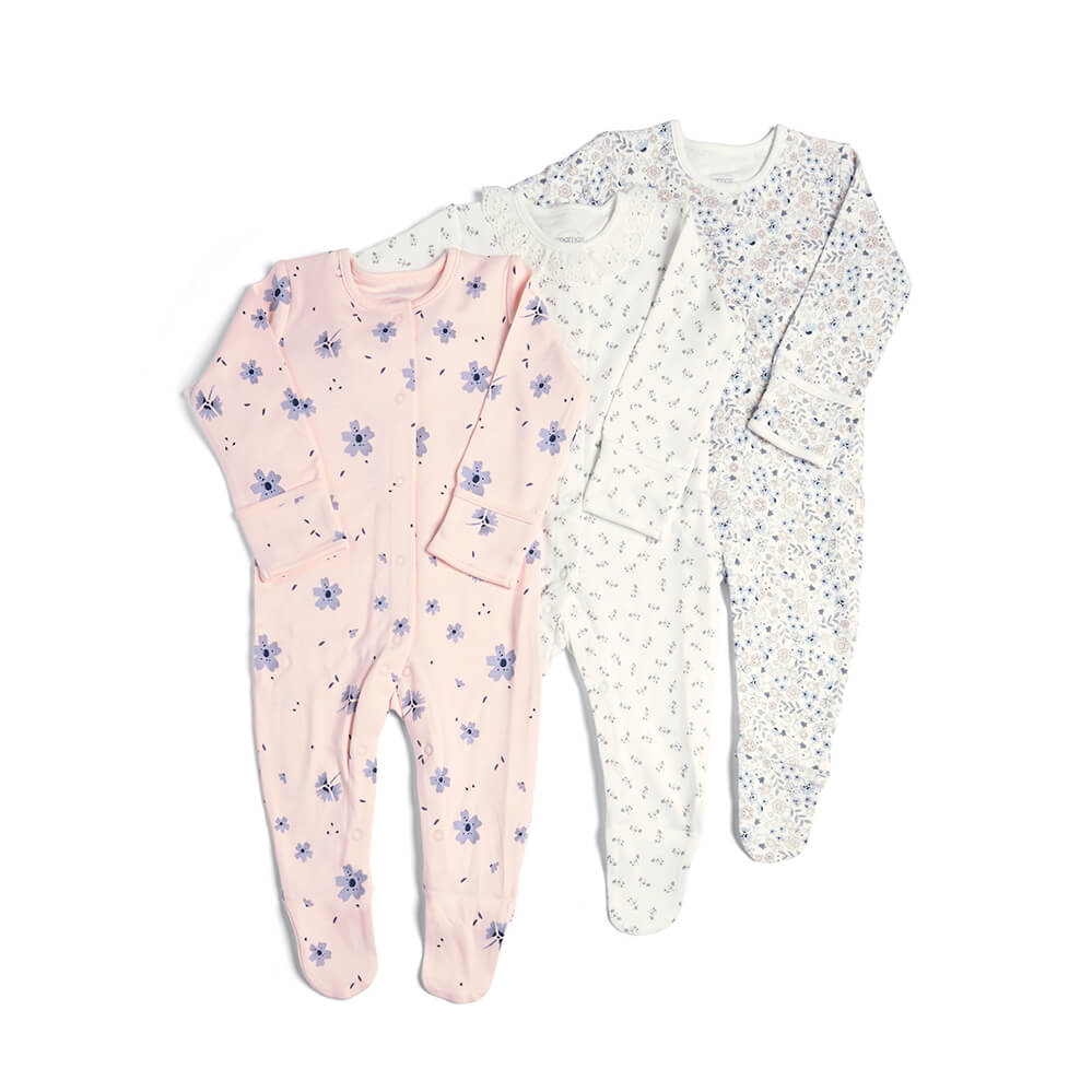 Mamas and Papas Floral All in Ones 3 Pack