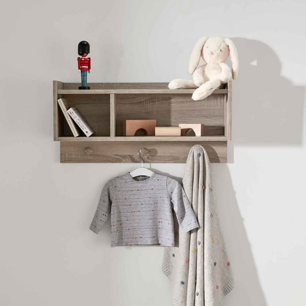 Mamas and Papas Franklin Grey Nursery Shelf