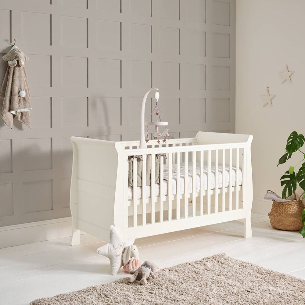 Mamas and Papas Mia Sleigh Ivory Cot