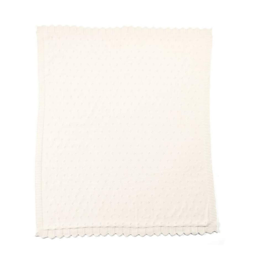 Mamas and Papas Lilybelle Pointelle Knitted Blanket