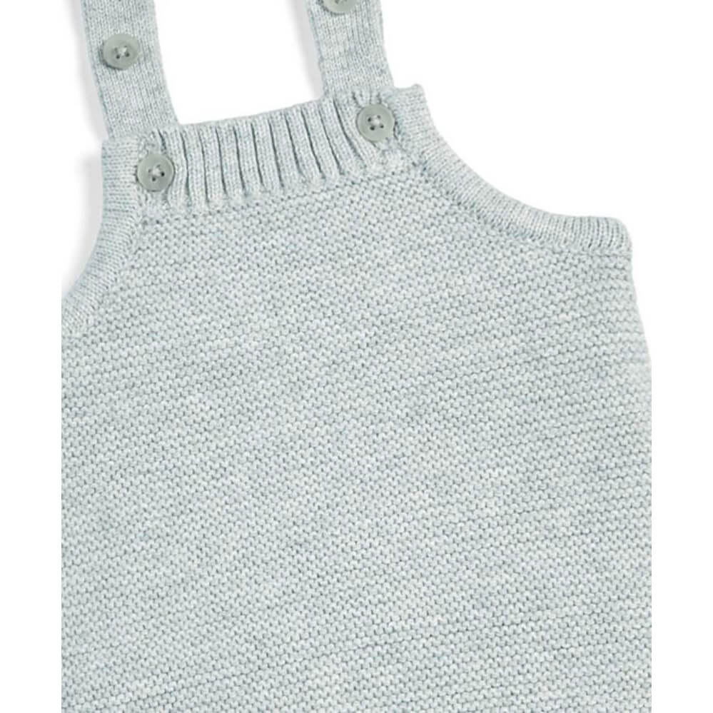 Mamas and Papas Grey Knitted Romper