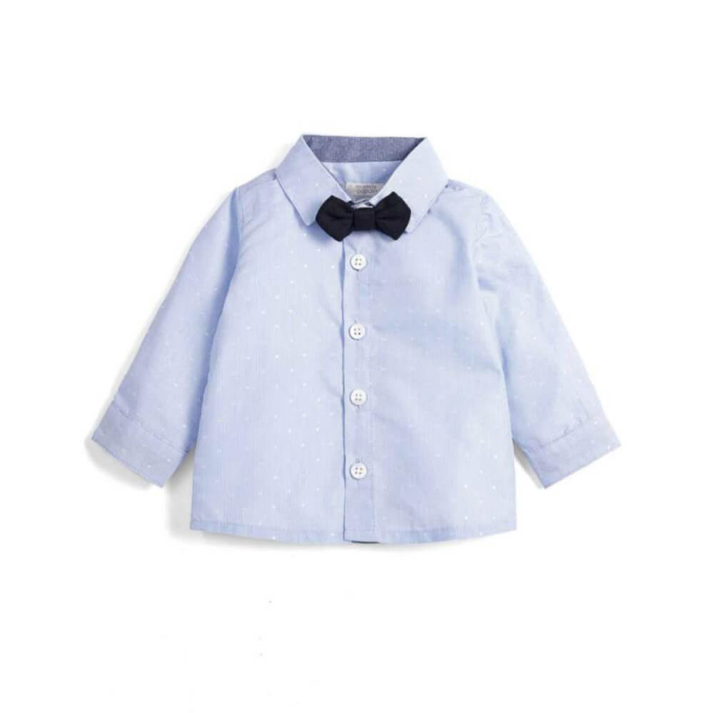 Mamas and Papas Stripe Shirt with Bowtie