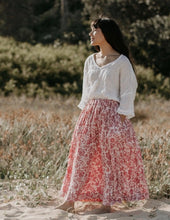 Load image into Gallery viewer, Layla Linen Skirt Baroque Rose Flower - Maxi and Midi Length