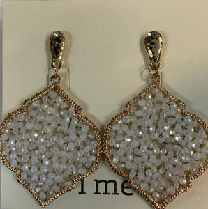 i me -  Gold Stud with Crystal Earings