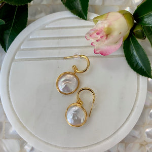 i me - Pearl and Gold Earinngs