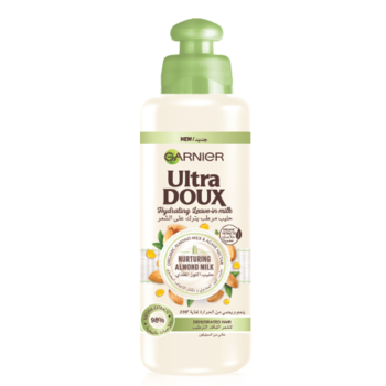 Garnier Ultra Doux Almond Milk Leave In Conditioning Cream غارنييه كريم الشعر بحليب اللوز