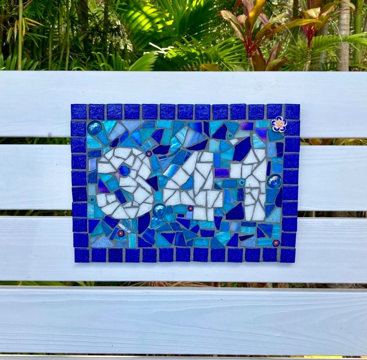 Mosaic House Number, 3 or 4 Digits, A4 size (30 x 22cm) Custom Made