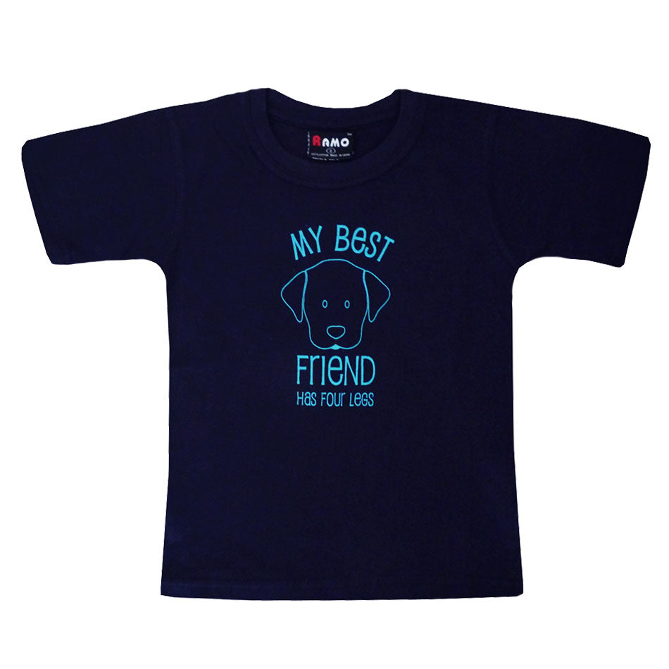 My Best Friend Has Four Legs 100% Cotton Short Sleeve T Shirt