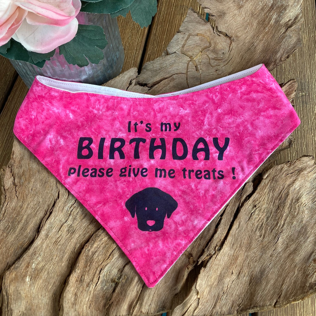 """BIRTHDAY"" Dog Bandana - Choice of colours"