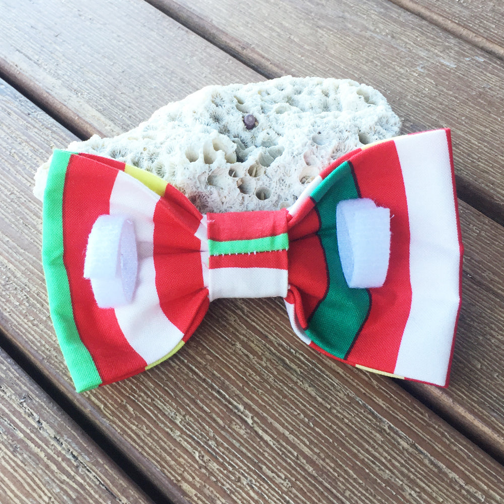 "Xmas Dog Bow Tie, ""Candy Cane Stripes"""