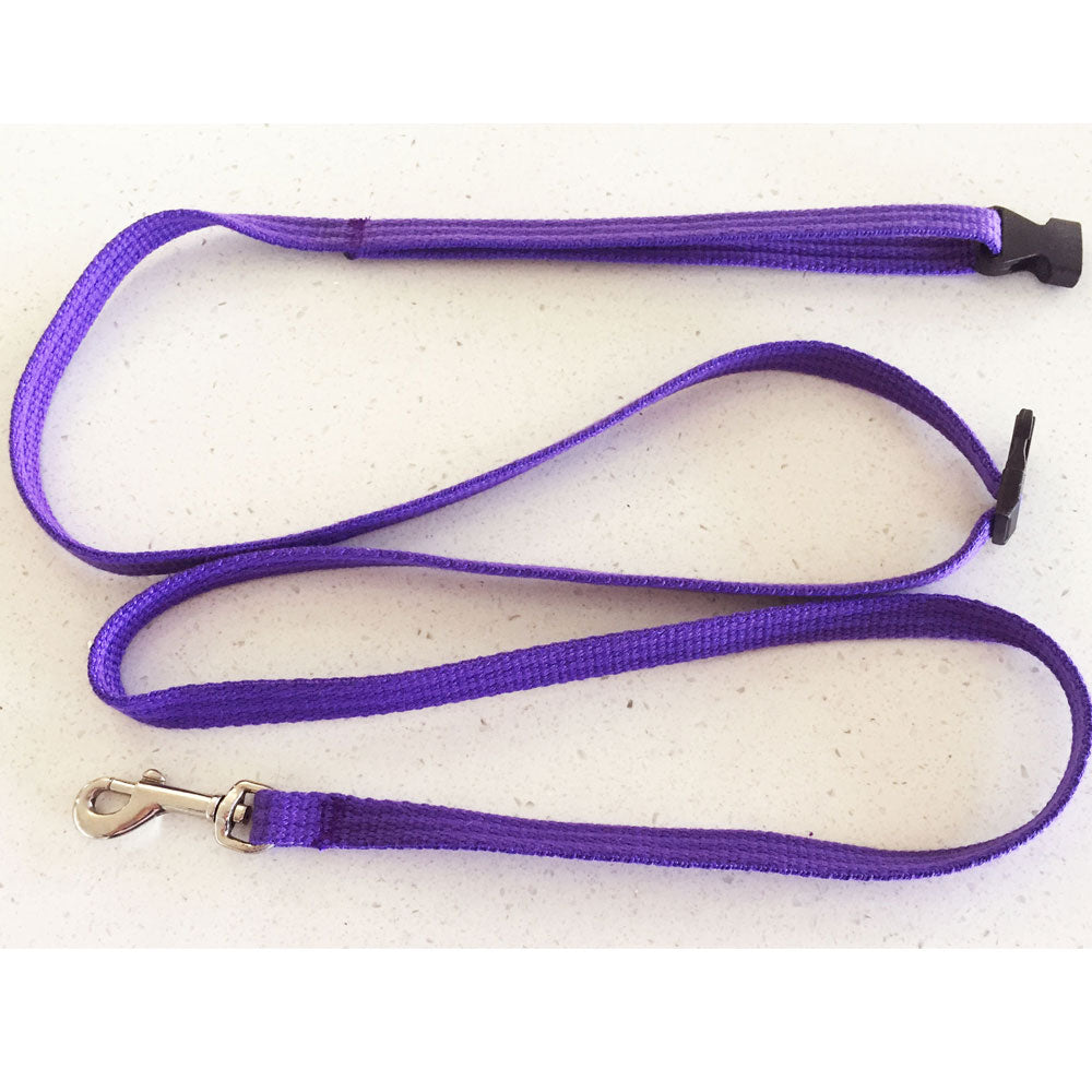 Purple 12mm Tethering Cat, Puppy, Small Dog Lead/ Leash, Soft Brushed Polyester