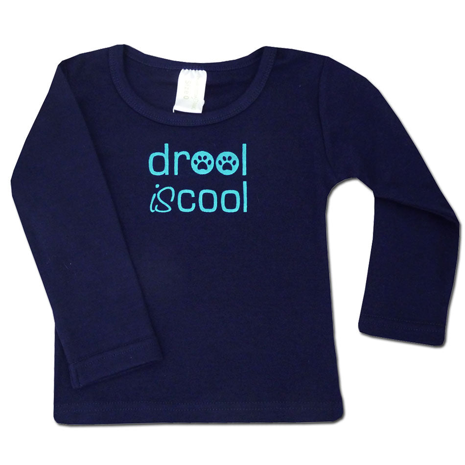 Drool IS Cool Organic Cotton Long Sleeve Baby T Shirt - Size 0 (3-6 months)