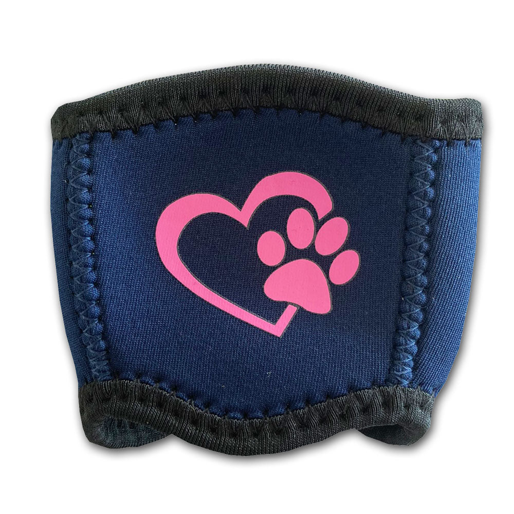 Neoprene Wine Cooler for Dog Lovers Heart with Paw Design