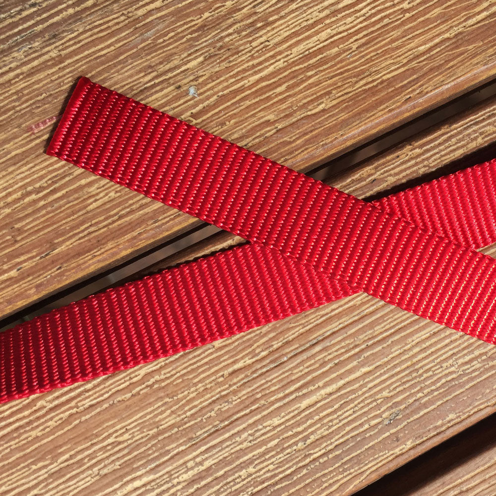 Vivid Red 20mm Tethering Dog Lead/Leash, Heavy Duty Polyester Webbing