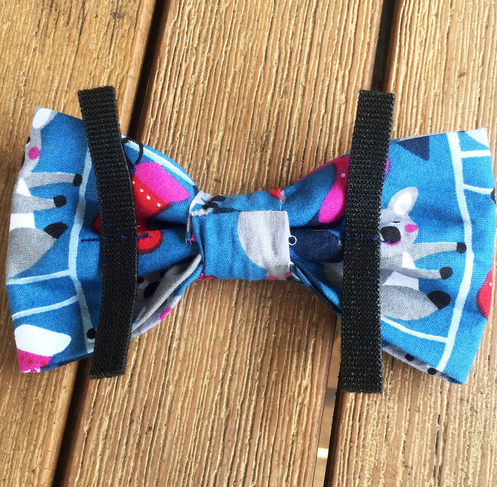 "Xmas Dog Bow Tie, ""Blue Koalas"""