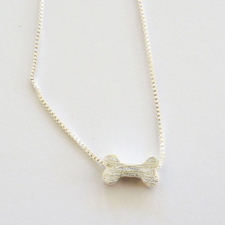 925 Sterling Silver Dog Bone Necklace