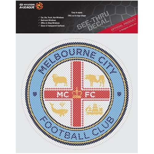 Melbourne City iTag See Through Team Logo Car Sticker