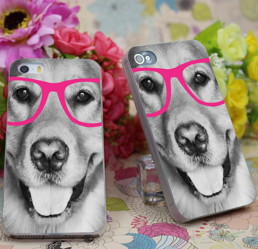 Golden Retriever in Sunnies Case / Cover iPhone 5 & 5S