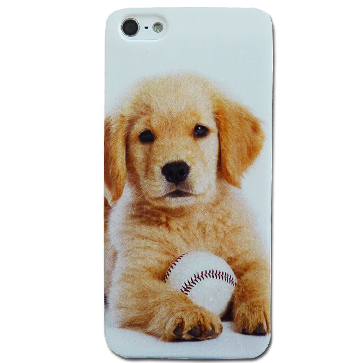 Retriever Puppy with Baseball Soft Silicone Phone Case/Cover iPhone 5, 5S