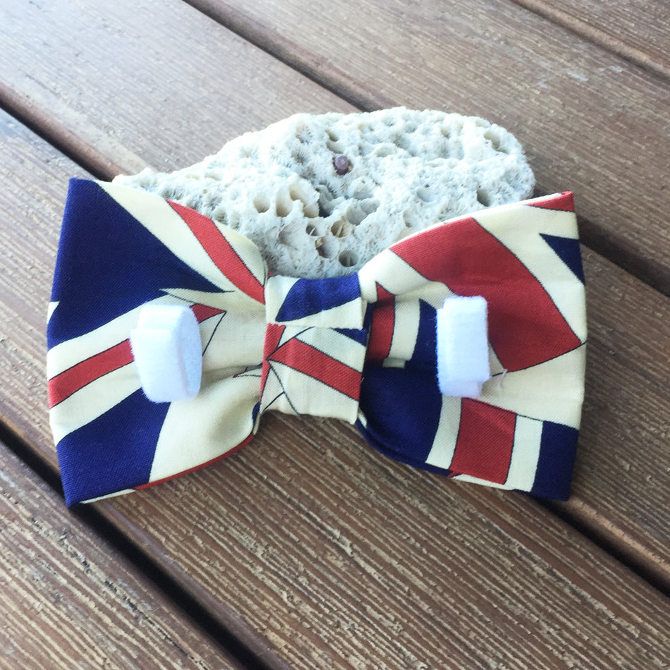 "Handmade Dog Bow Tie, ""Union Jack"""