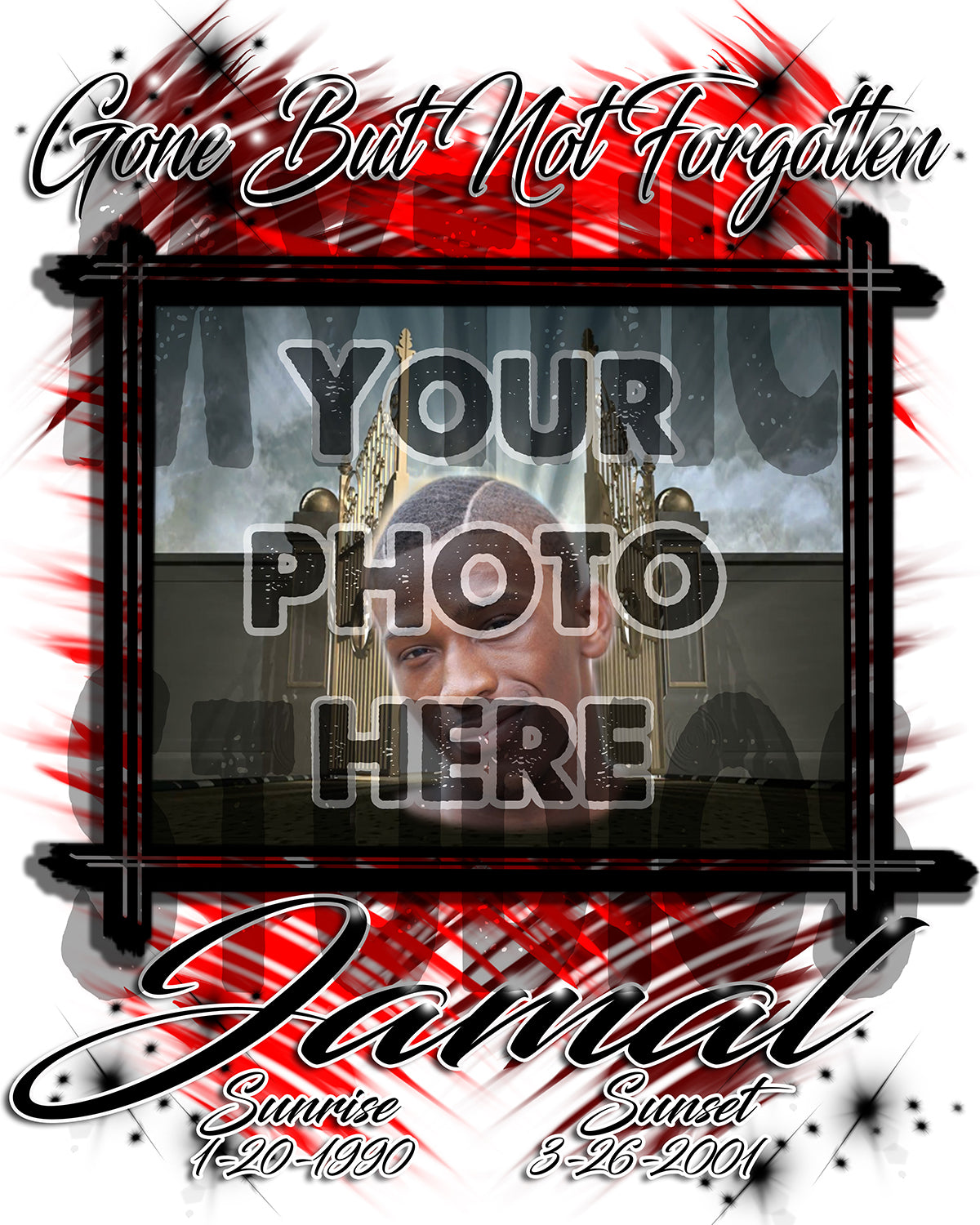 Personalized Airbrush Your Photo On a License Plate Tag