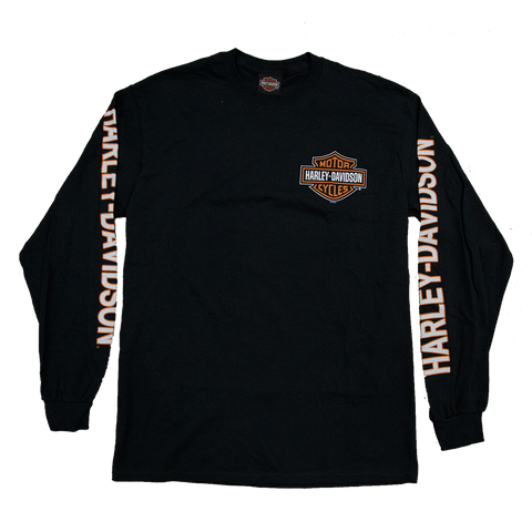 Harley-Davidson Pocket Bar & Shield Men's Long Sleeve Tee
