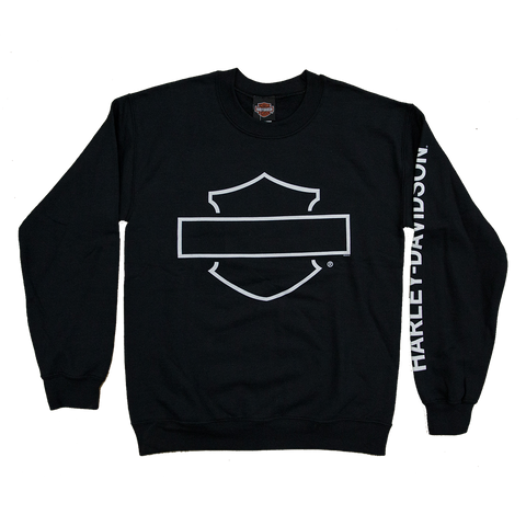 Harley-Davidson Blank Bar & Shield Crew Neck