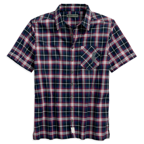 Harley-Davidson Lightning Bolt Plaid Men's Shirt