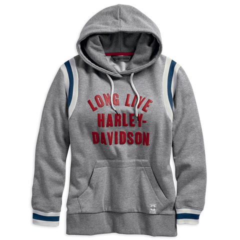Harley-Davidson Long Live Collegiate Women's Pullover Hoodie
