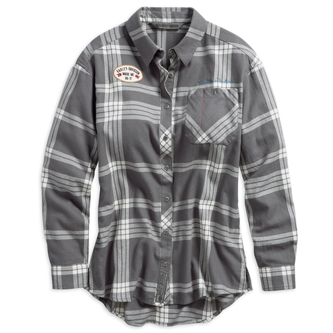 Harley-Davidson Eagle Graphic Women's Plaid Shirt