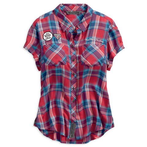 Harley-Davidson Better On A Harley Women's Plaid Shirt