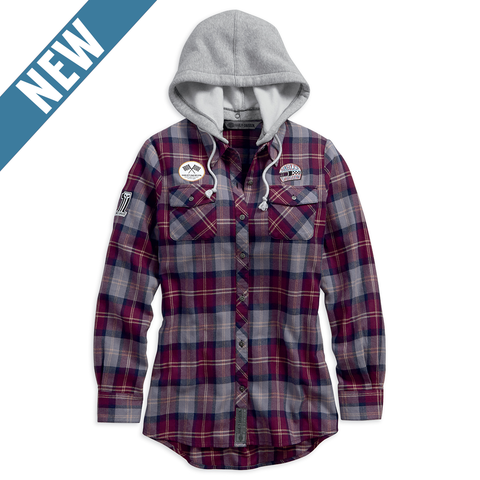 Harley-Davidson Hooded Plaid Women's Shirt