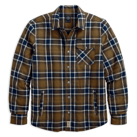 Harley-Davidson Quilted Plaid Men's Shirt Jacket