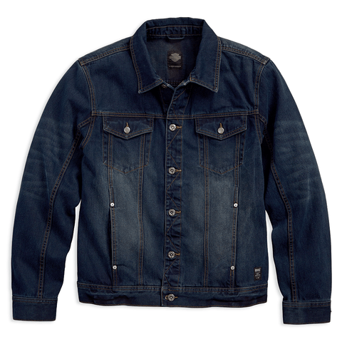 Harley-Davidson Brushed Denim Men's Trucker Jacket