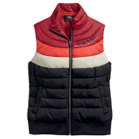 Harley-Davidson Striped Women's Puffer Vest