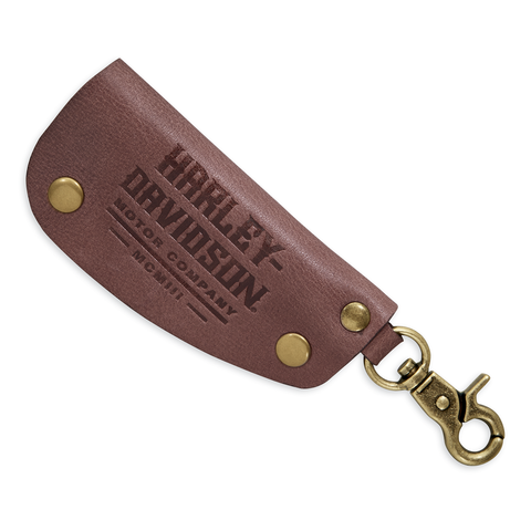 Harley-Davidson Debossed Leather Key Fob