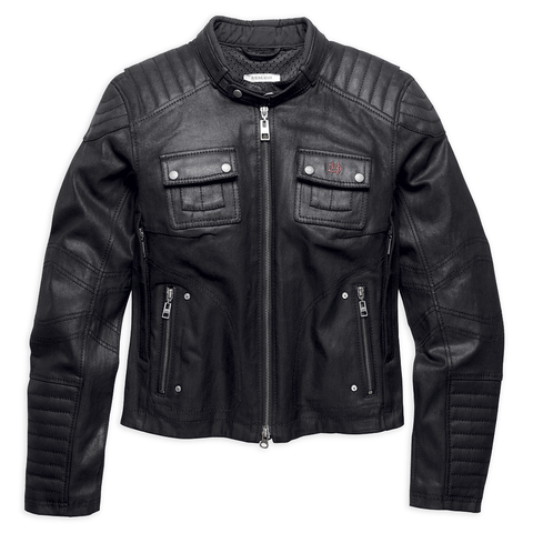 Harley-Davidson Quilted Coated Denim Women's Riding Jacket