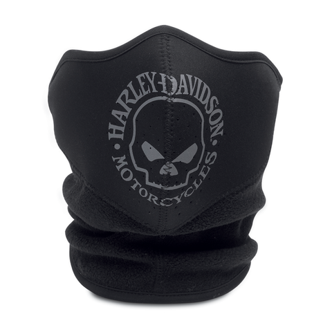 Harley-Davidson Skull Fleece/Neoprene Men's Face Mask
