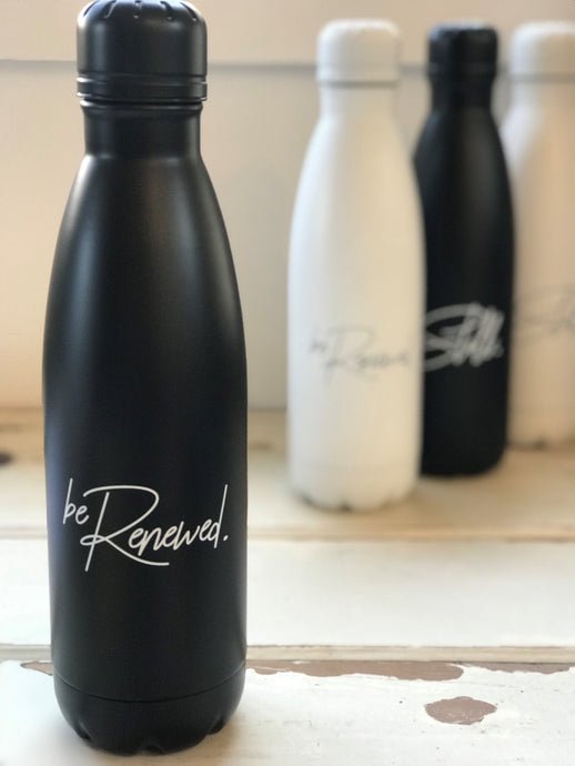 'BE RENEWED' Water Bottle - BLACK