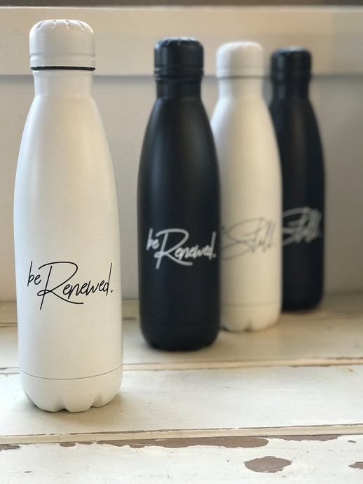 'BE RENEWED' Water Bottle - WHITE