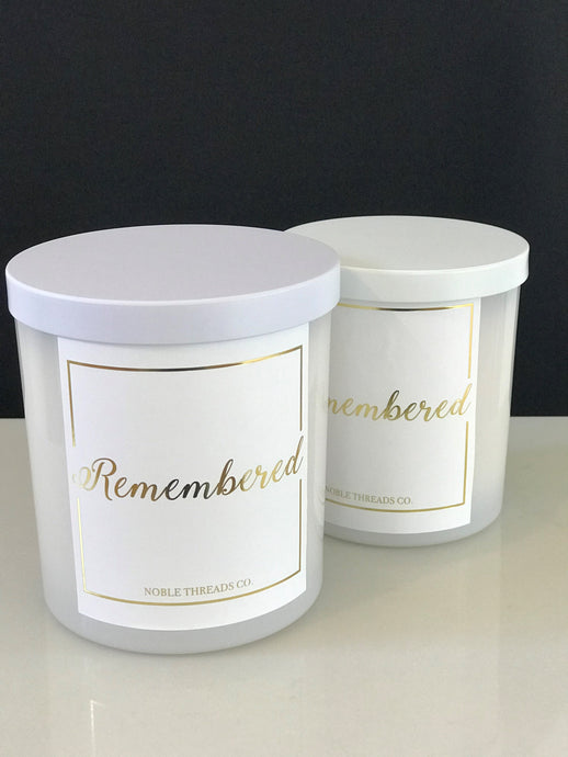 'Remembered' - The Zachary Candle