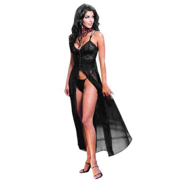 Women's Underwear Babydoll Sleepwear Lace Dress G-string Nightwear