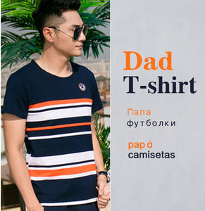 Family Matching Outfits 2018 summer Fashion Striped T-shirt Outfits Mother And Daughter Dresses And Father Son Baby Boy Girl