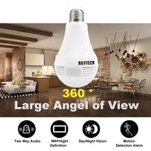 DAYTECH Wireless IP Camera WiFi Home Security Camera HD 960P Baby Monitor 360 degree Fisheye Panoramic Camera Lamp