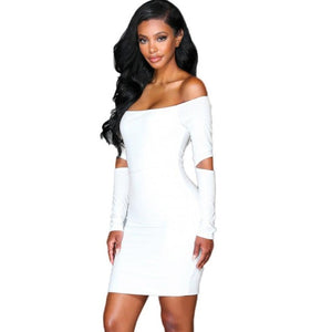 Bodycon Long Sleeve Sexy Dress Club Wear Women Off The Shoulde Party Mini Dresses Trending Products 2018